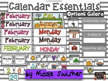 Calendar Essentials Set with TONS of Options (Primary/Intermediate)