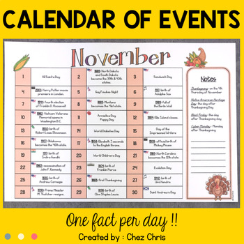 Calendar / Planner - Today in History : Events in the English Speaking World