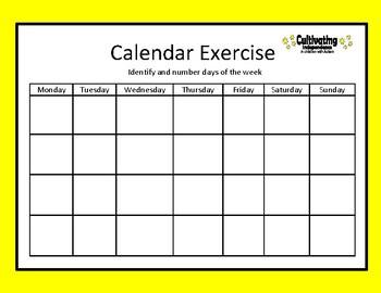 Calendar Exercise