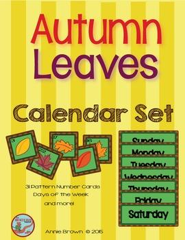 Calendar: Fall Theme 2