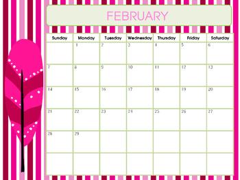 Calendar: February 2016 - Gentle Feathers