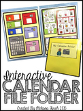 Calendar File Folder- Interactive Activities for Students with Autism