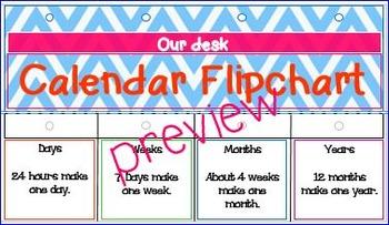 Calendar Flip Chart for Teachers