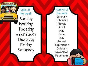 Calendar Flipchart - August
