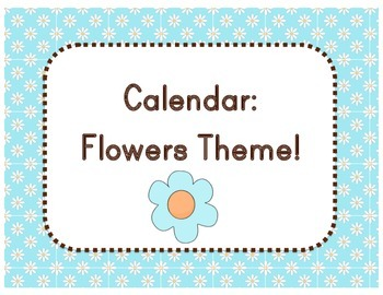 Calendar: Flower Theme  (Pocket Chart)