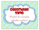 Calendar Folder for Morning Calendar Routine