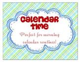 Calendar Folder for Morning Calendar Routine