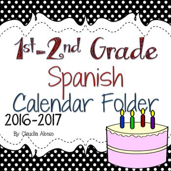 Calendar Folder in Spanish (1st-2nd Grade) 2016-2017