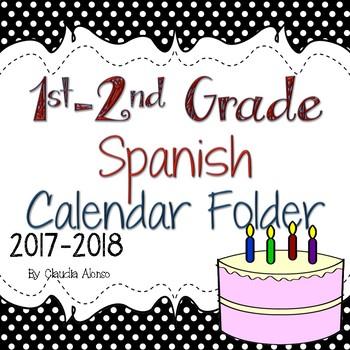 Calendar Folder in Spanish (1st-2nd Grade) 2017-2018