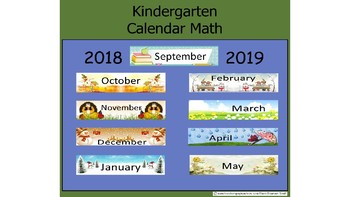 Calendar Fun Kindergarten Full Year 2018-2019