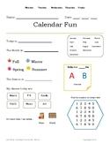 Calendar Fun for SPED