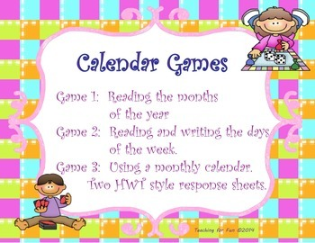 Calendar Games, Come Play with Me
