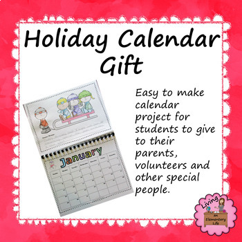 Holiday Calendar Gift for Parents