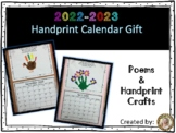 Handprint Calendar Craft with Poems (**FREE Updates Yearly!)