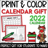 Christmas Gift for Parents - Print and Color Calendar