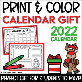 Christmas Gifts For Parents From Students.Christmas Gift For Parents Print And Color Calendar By