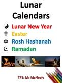 Calendar Graphs: Easter, Rosh Hashanah, Ramadan