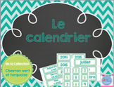 Calendar - Green and Turquoise/ Calendrier de classe vert et turquoise