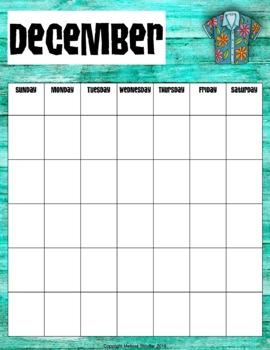 Calendar {Hawaiian Beach}