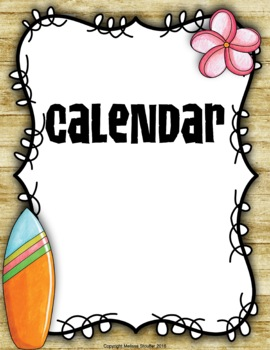 Calendar {Hawaiian Tiki Beach}