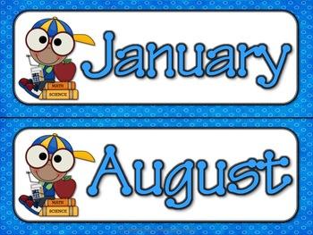 Calendar Header Cards