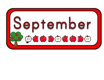 Calendar Headers AUgust through July