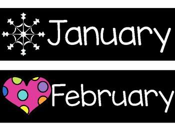 Calendar Headers- Black