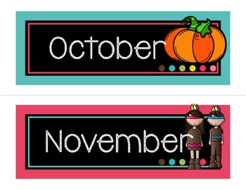 Calendar Headers-Black version