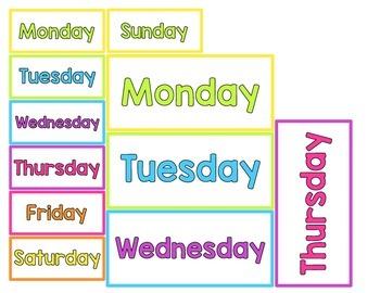 Calendar Headers - Bright & Sweet Theme