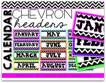 Calendar Headers - Chevron Theme