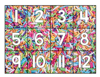 Calendar Headers & Five Patterned Day Pieces
