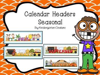 Calendar Headers Months Of The Year  -Seasonal