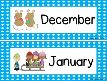 Calendar Headers - Polka Dot Borders