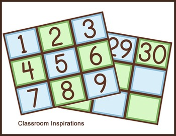 Calendar Headers, Tags & Numbers – Coordinates with Turtle Time Classroom Theme