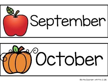 Calendar Headers- White