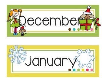 Calendar Headers-White version
