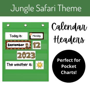 "Calendar Headers (""Jungle Safari"" Style)"