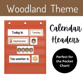 "Calendar  Headers (""Woodland/ Forest"" Theme)"