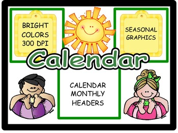 Calendar Headers for: August