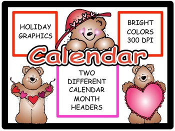 Calendar Headers for: February