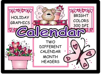 Calendar Headers for: February (6)