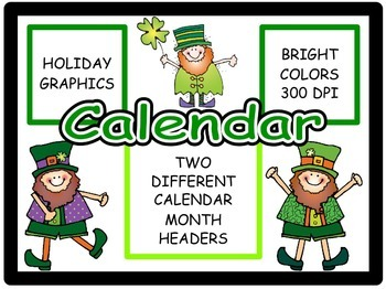 Calendar Headers for: March