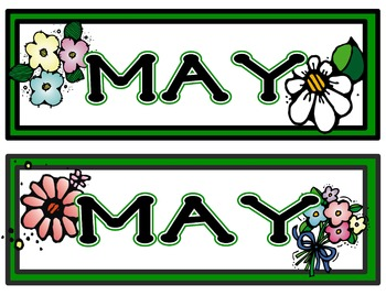 Calendar Headers for: May