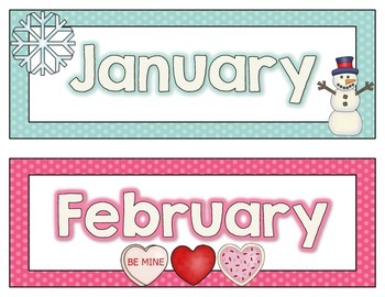 Calendar Headers {seasonal}