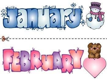 Calendar Headings for Bulletin Boards_FREEBIE!!