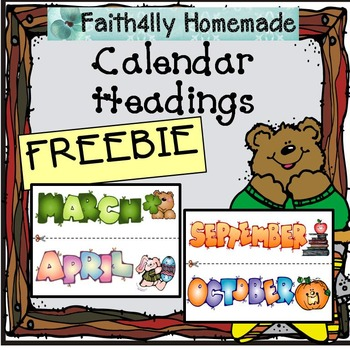 Calendar Headings for Bulletin Boards_FREEBIE!!