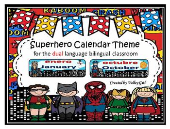 Calendar Headings for the bilingual classroom