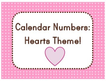 Calendar: Hearts Theme (Pocket Chart)
