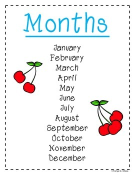 Calendar Helper Anchor Charts