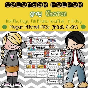 Calendar Helper: Grey Chevron